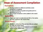 steps of assessment compilation