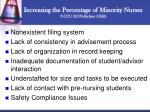 increasing the percentage of minority nurses nccu don before osss