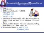 increasing the percentage of minority nurses osss junior survey results