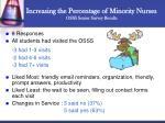 increasing the percentage of minority nurses osss senior survey results