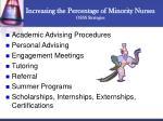 increasing the percentage of minority nurses osss strategies