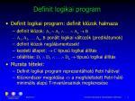 definit logikai program