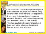 convergence and communications