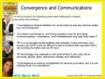convergence and communications1
