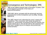 convergence and technologies ims1