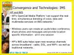 convergence and technologies ims2