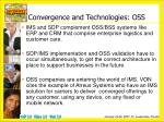 convergence and technologies oss1