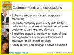 customer needs and expectations