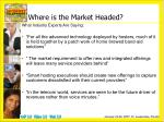where is the market headed1