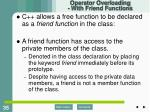operator overloading with friend functions1