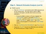 step 6 network schedule analysis cont d1