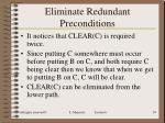 eliminate redundant preconditions1