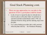 goal stack planning cont19