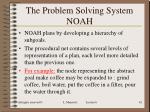 the problem solving system noah