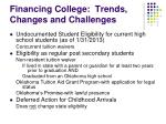 financing college trends changes and challenges10
