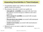 assessing uncertainties in trend analyses