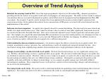 overview of trend analysis