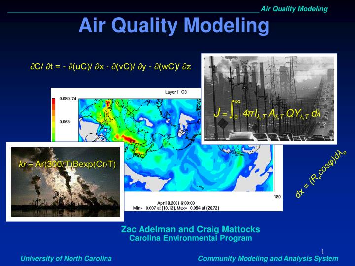 air quality modeling n.