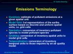 emissions terminology