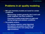 problems in air quality modeling1