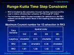runge kutta time step constraint