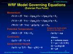 wrf model governing equations eulerian flux form