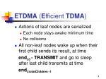 etdma e fficient tdma