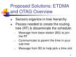 proposed solutions etdma and otag overview