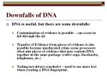 downfalls of dna