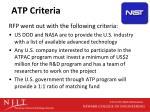 atp criteria