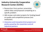 industry university cooperative research center iucrc3