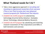 what thailand needs for s t2