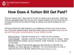 how does a tuition bill get paid