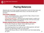paying balances