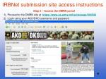 irbnet submission site access instructions1