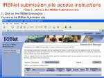irbnet submission site access instructions3
