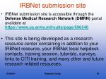 irbnet submission site