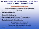 iv resources darnal resource center stitt library it tools research links