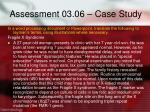 assessment 03 06 case study