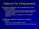 california tier 3 requirements