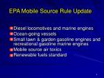 epa mobile source rule update