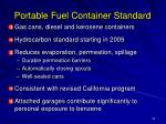 portable fuel container standard