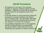 qa qc procedures