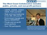 the west coast collaborative includes public private and non profit partners