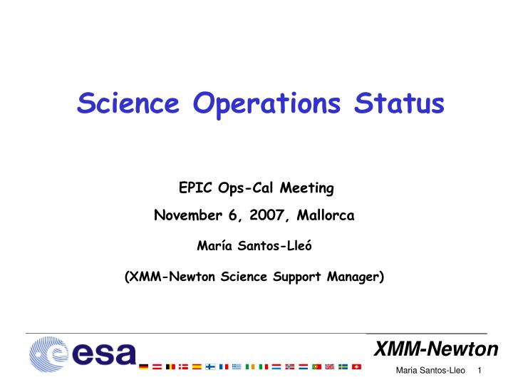 science operations status n.