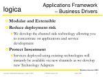 applications framework business drivers