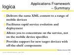 applications framework summary