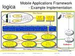 mobile applications framework example implementation