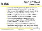 wap gprs and alternatives
