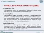 formal education statistics mone4